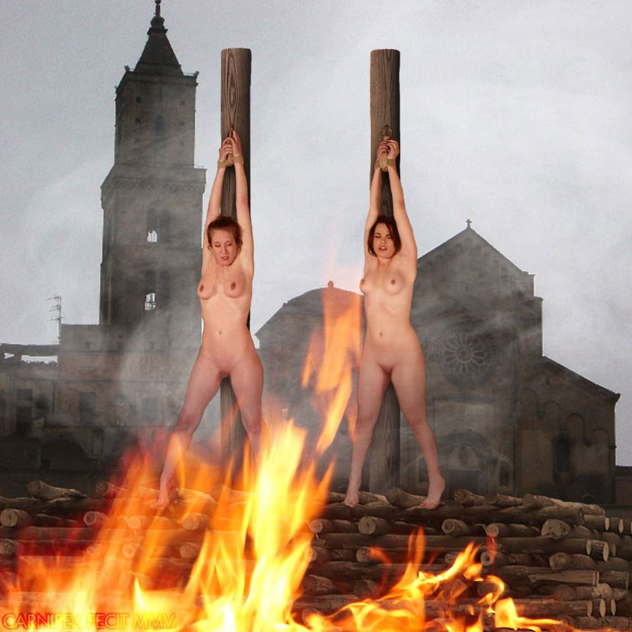 Hot naked fire woman